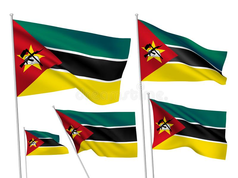 Vectorvlaggen van Mozambique vector illustratie