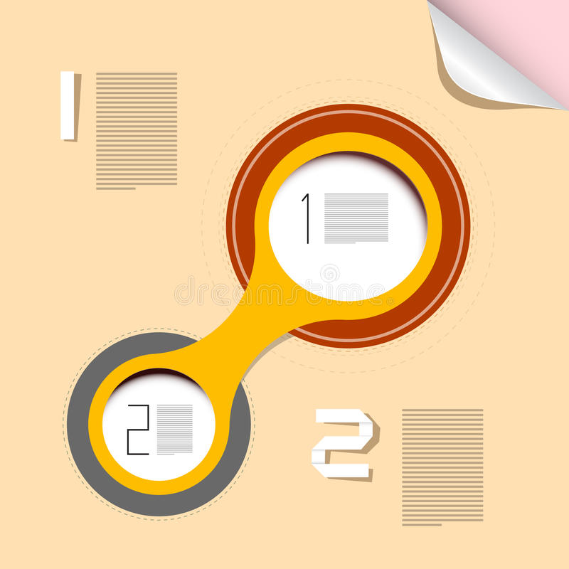 Vectorvooruitgangsstappen voor Leerprogramma stock illustratie