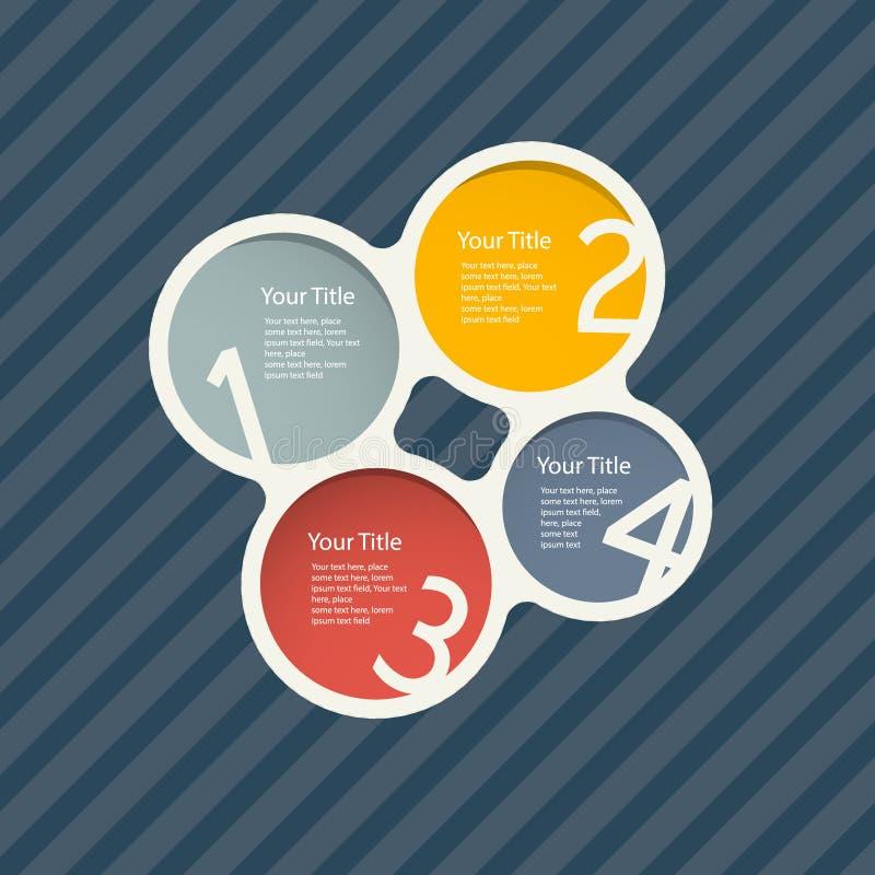 Vectorvooruitgangsstappen voor Leerprogramma, Infographics stock illustratie