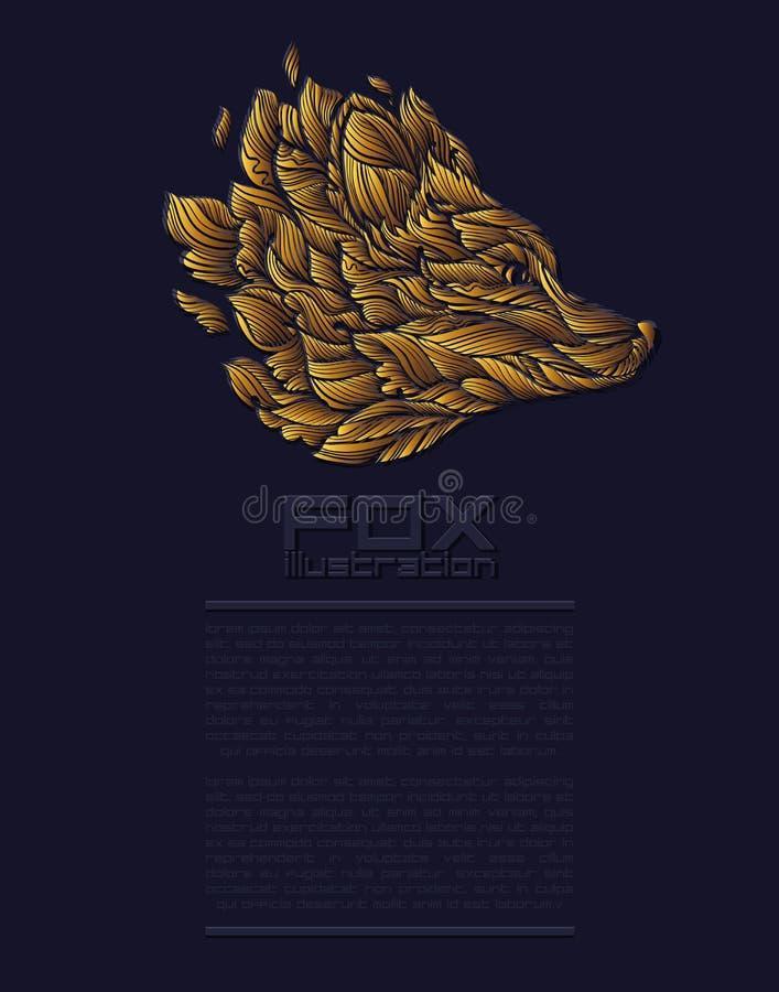 Vectorvos of Wolf Design Icon Logo Luxury-Goud Van de bedrijfs presentatie Template stock fotografie