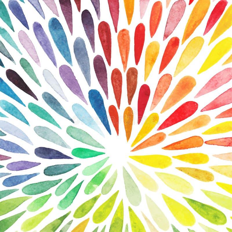 Vectorwaterverf kleurrijke abstracte achtergrond Inzameling van pa vector illustratie