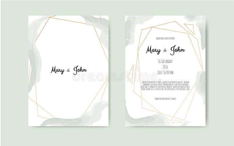 Vectorwaterverfachtergrond, elegante eenvoudige kaartmalplaatjes Pastelkleurachtergronden Partij, de malplaatjes van de babydouch stock illustratie