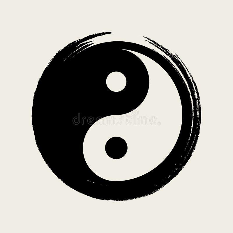 Vectoryin yang in Zen Circle Illustration stock afbeelding