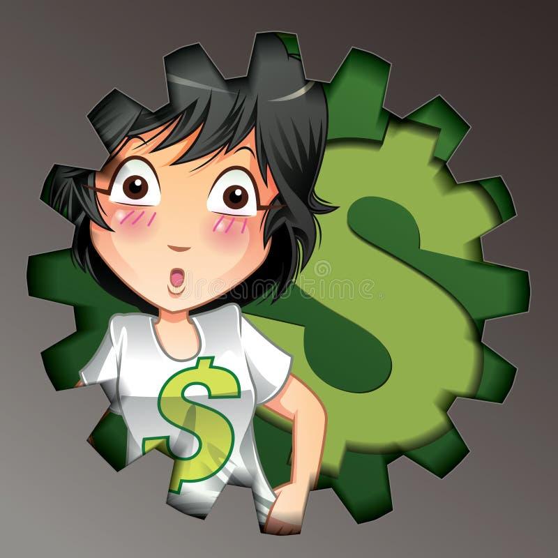 Vectorzaken en geld vector illustratie