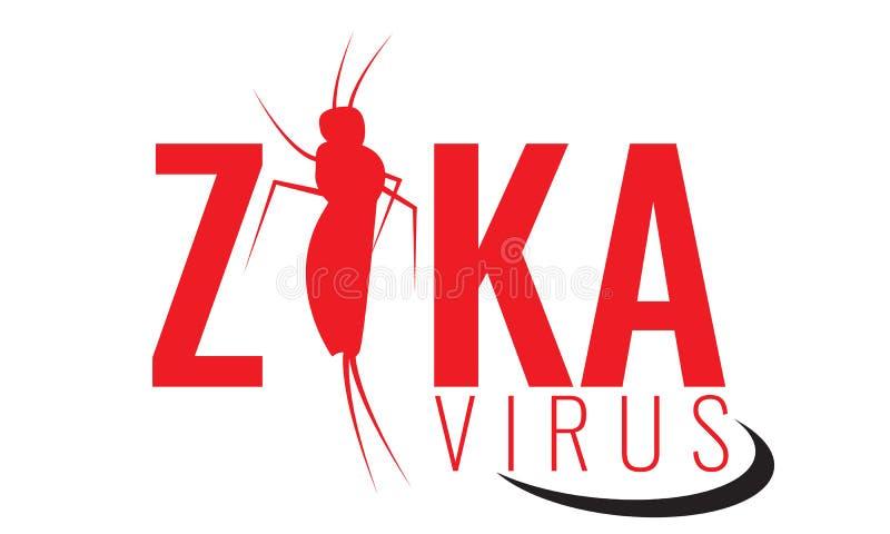 Vectorzika-virusembleem, symbool of teken Aedes de muggen van Aegypti stock illustratie