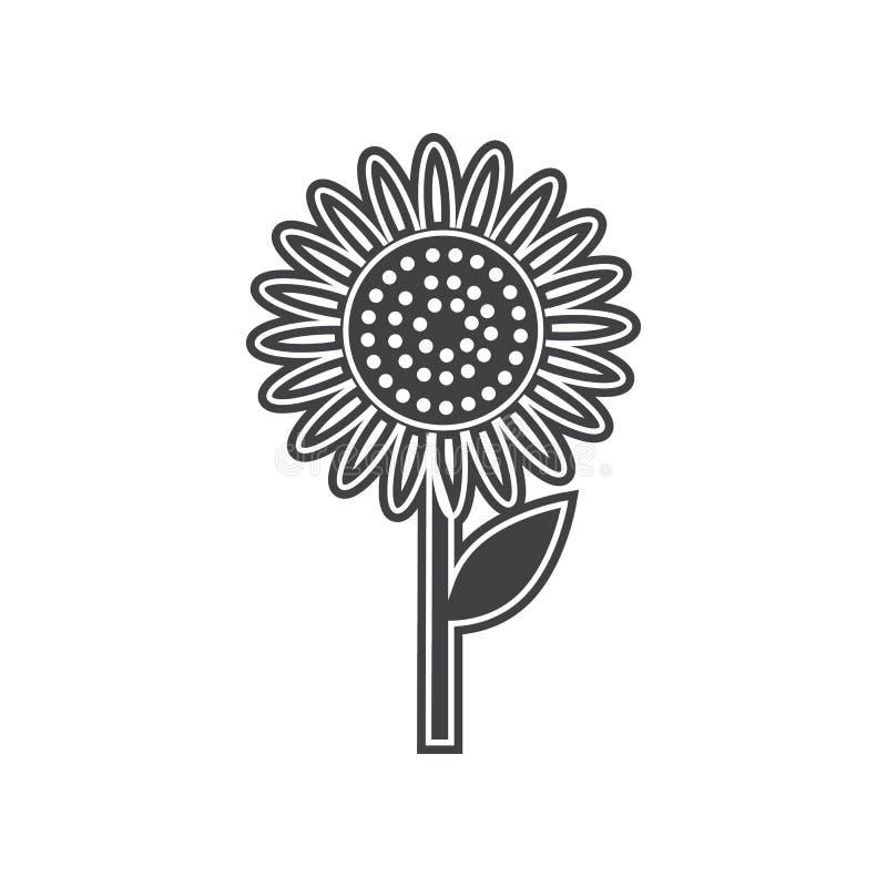 Vectorzonnebloempictogram Element van Vruchten en vegatables voor mobiel concept en webtoepassingenpictogram Glyph, vlak pictogra vector illustratie