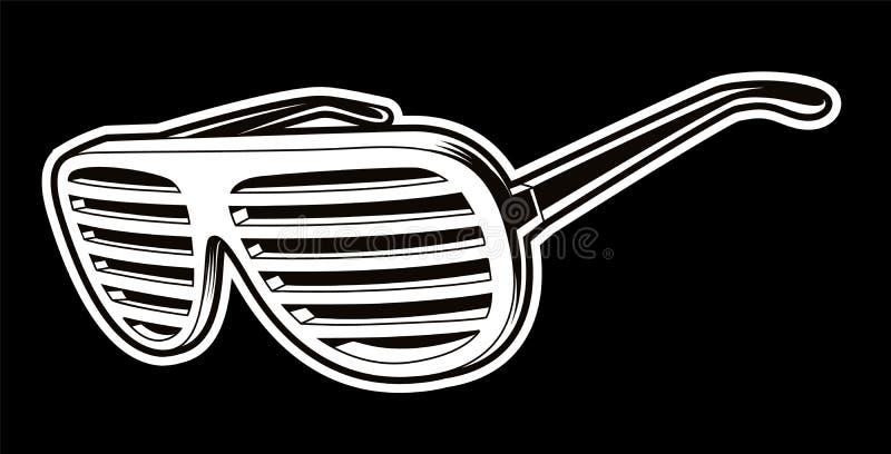 Vectror ilustracja czarny i biały okulary przeciwsłoneczni royalty ilustracja