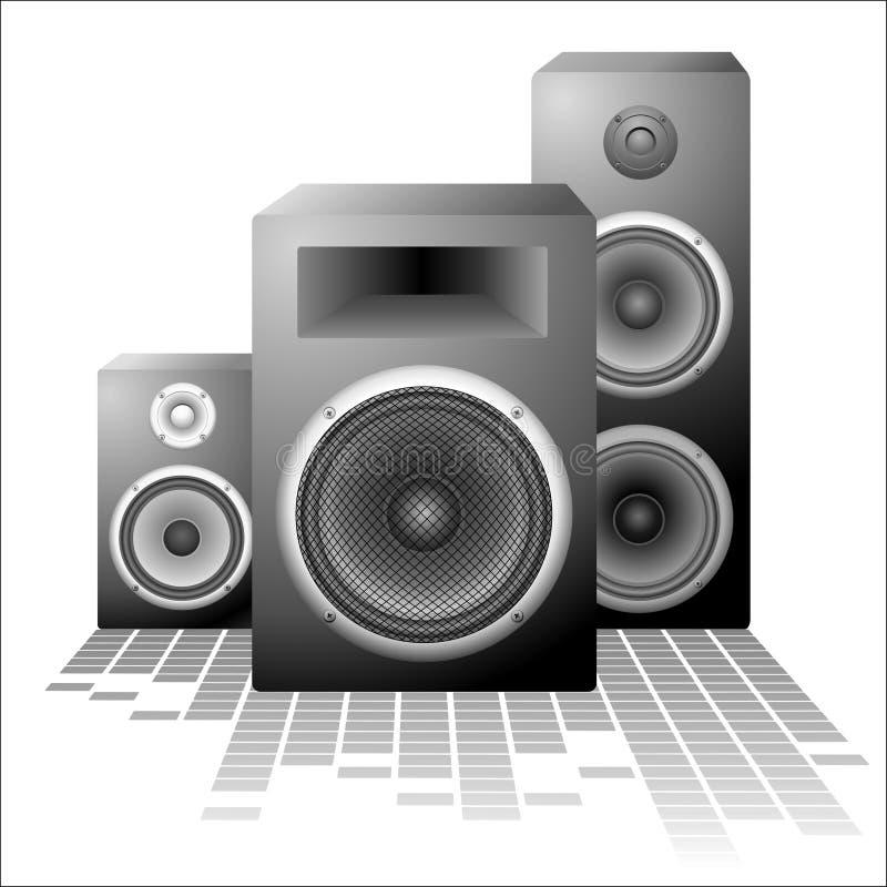 Vectror Lautsprecher stock abbildung