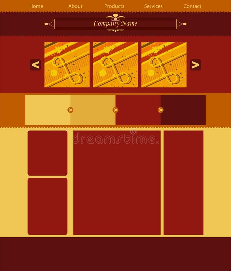 Vectror web site layout stock photos