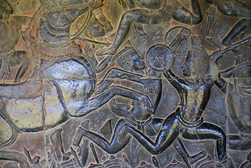 Veda. Angkor Wat. Kambodja. royalty-vrije stock fotografie