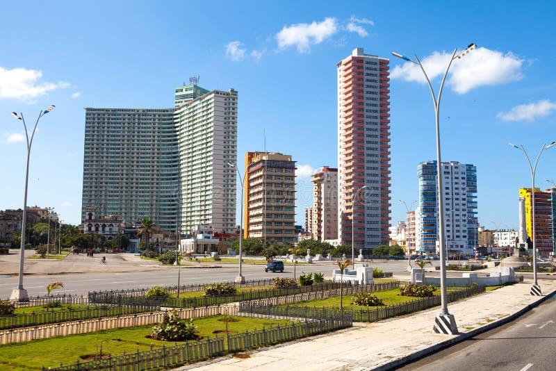 Vedado horisont i havannacigarren, Kuba royaltyfri fotografi