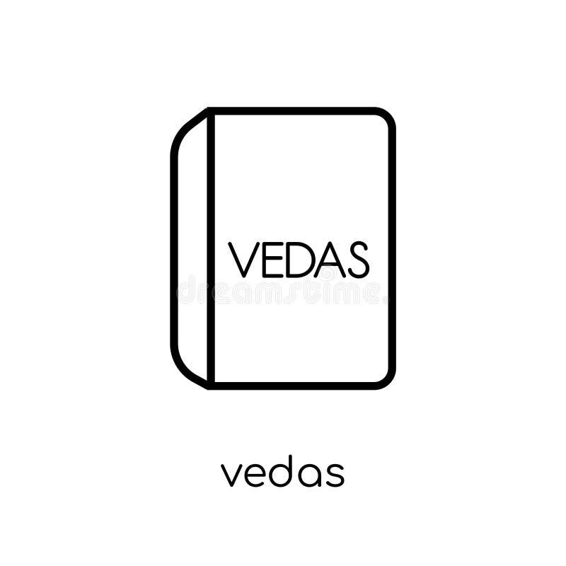 vedaspictogram In modern vlak lineair vectorvedaspictogram op wit stock illustratie