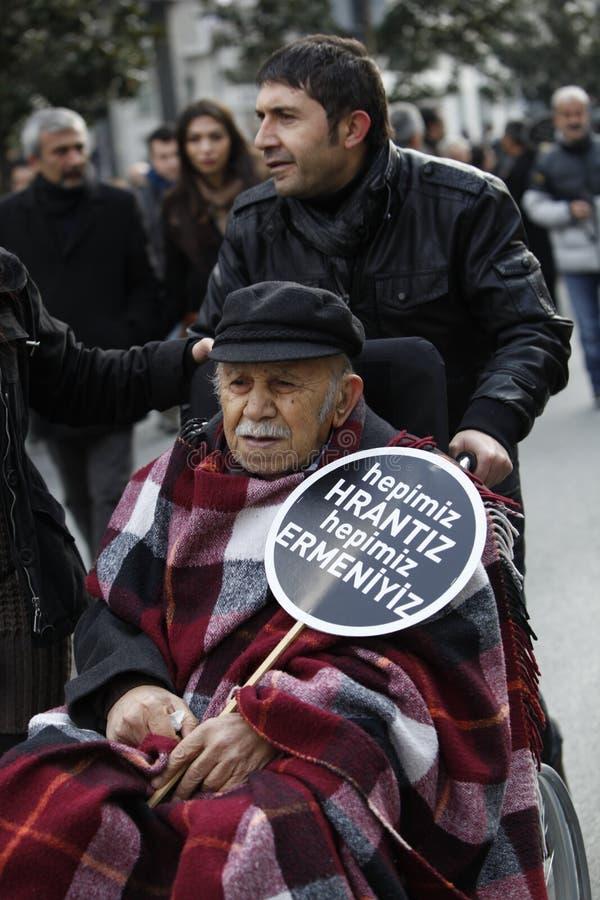 Vedat Turkali en la conmemoración de Hrant Dink imagen de archivo