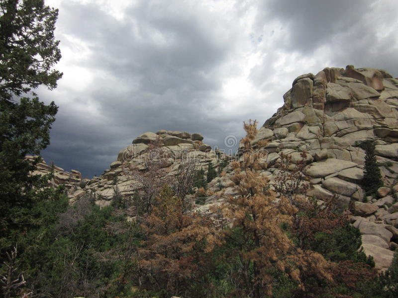 Vedauwoo岩层 图库摄影