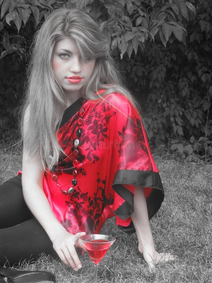 Vedere colore rosso fotografia stock