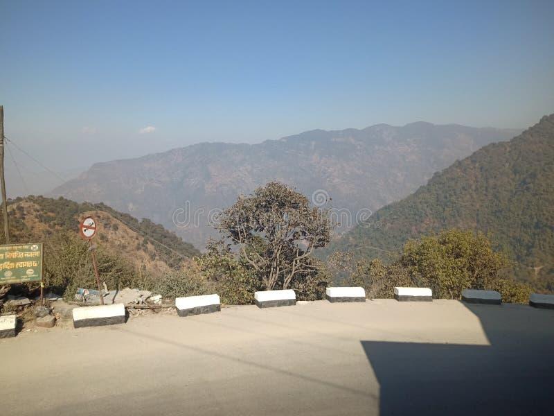 Vedetar, dharan i nepal, bergshot, mycket gammal plats den är arkivbild