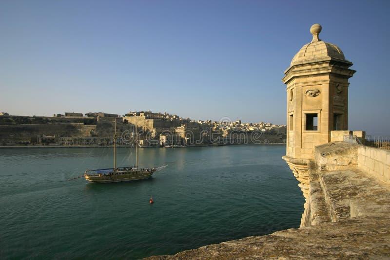Vedette обозревая Valleta #2 стоковое изображение rf