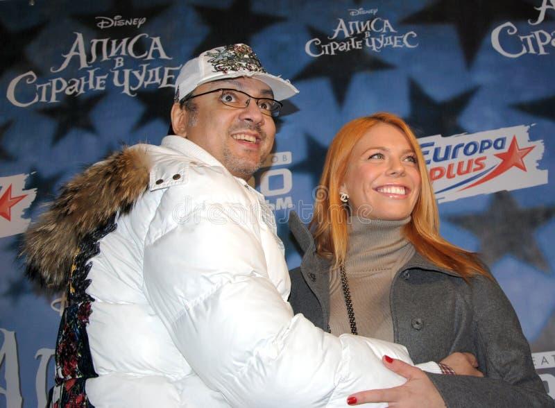 Vedette de pop Philip Kirkorov et Anastasia Stotskaya photo stock