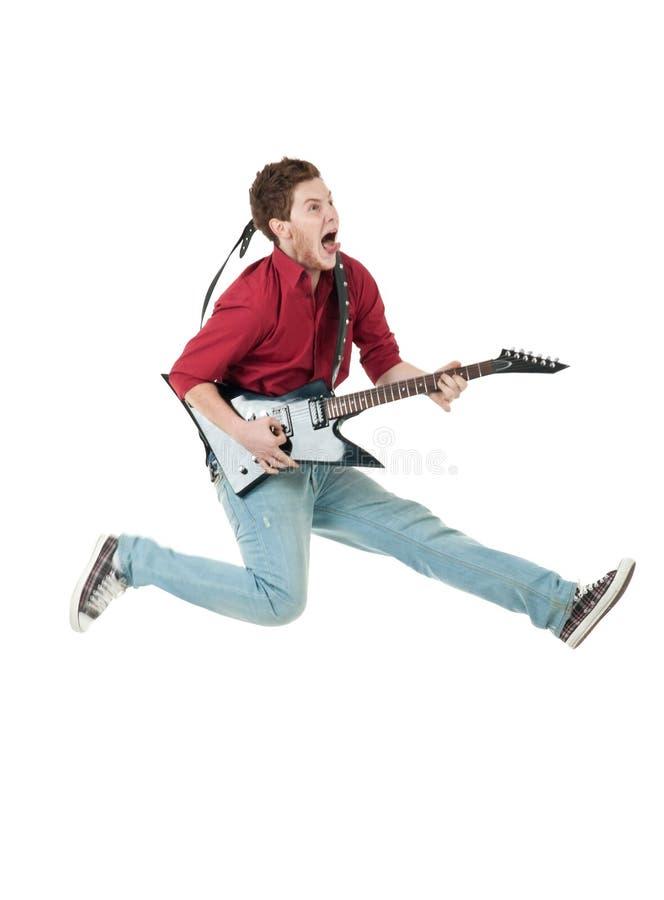 Vedette du rock célèbre criant photo libre de droits