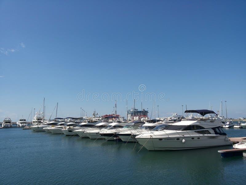 Vedi l'estate di Sochi del porto fotografie stock libere da diritti