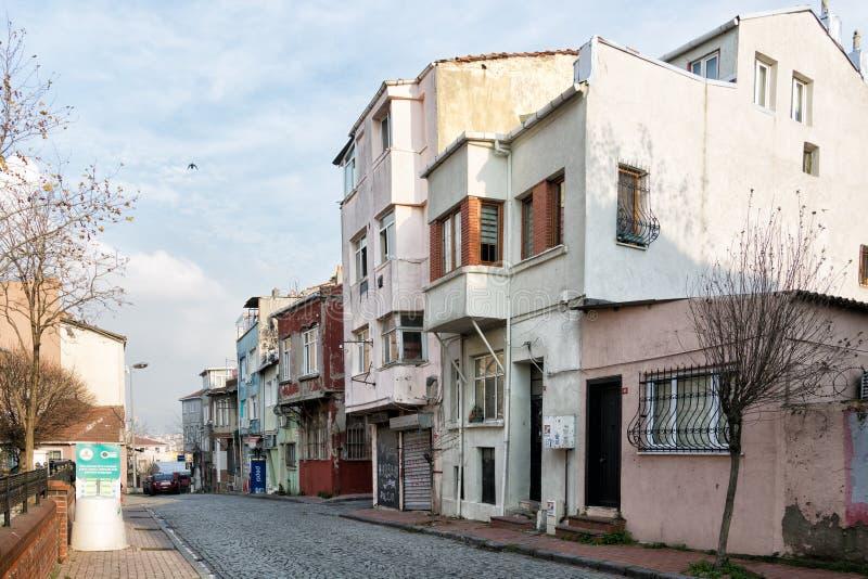 Veduta di vecchi edifici del Tekfur Palace o Palace of Porphyrogenitus, nella zona di Fatih Istanbul immagini stock