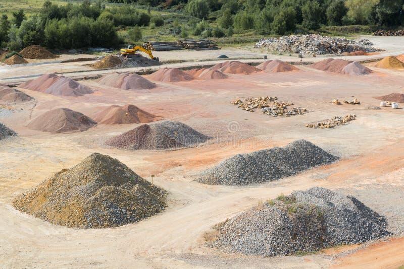 Veekraal van zand, kiezelstenen en complexen dichtbij Le Havre, Frankrijk royalty-vrije stock afbeelding