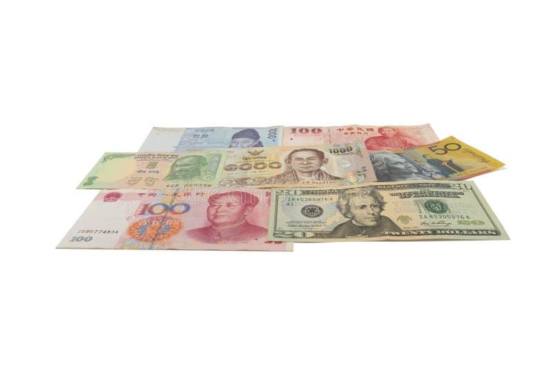 Veel bankbiljet van divers land royalty-vrije stock afbeeldingen