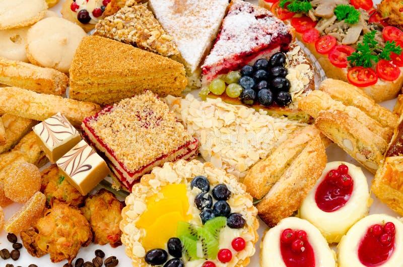 Veel gebakje stock afbeelding