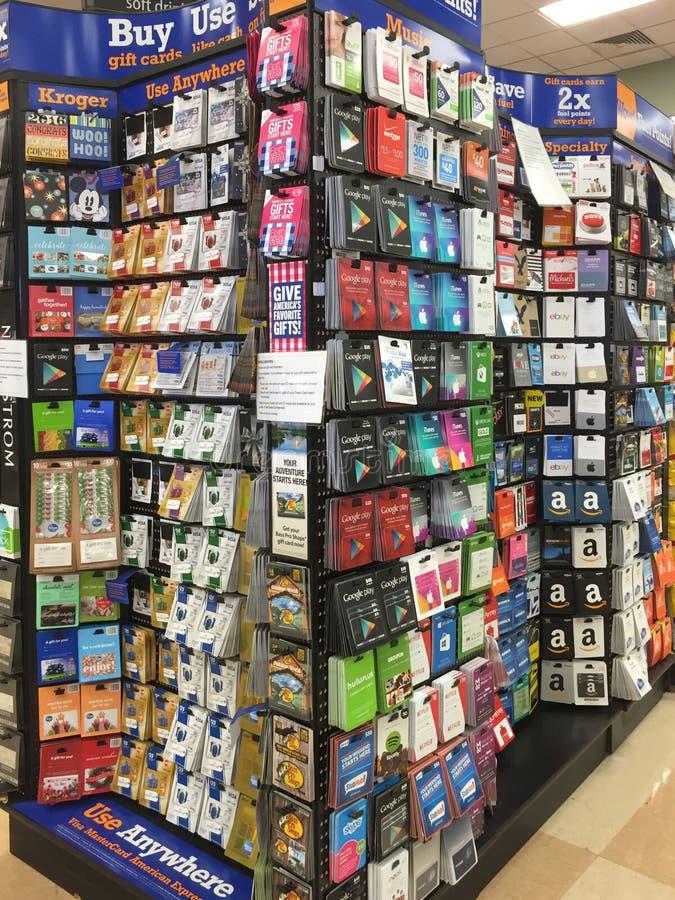 Veel giftkaarten het verkopen royalty-vrije stock afbeelding