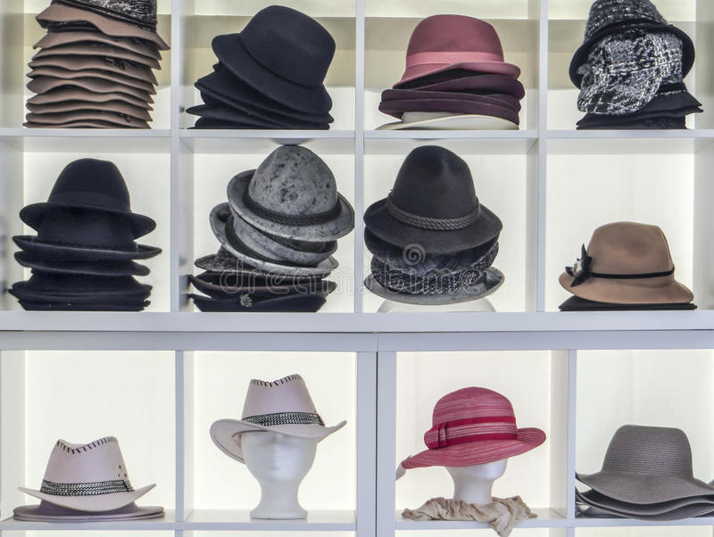 Veel hoeden stock foto's