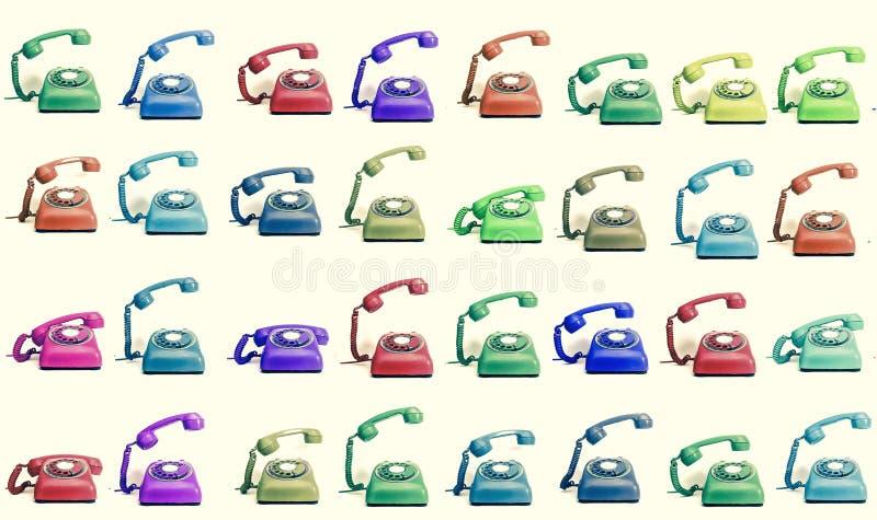 Veel kleurentelefoons het bellen stock illustratie