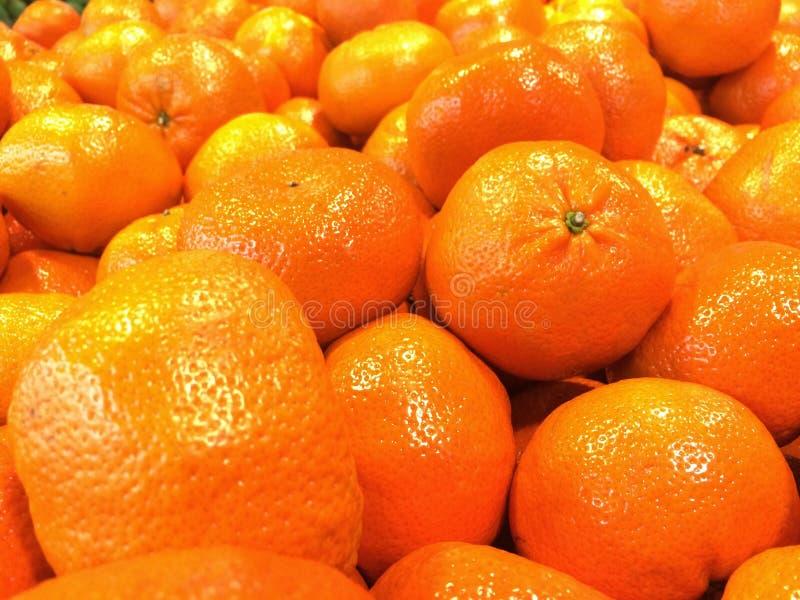 Veel sinaasappelen stock afbeelding