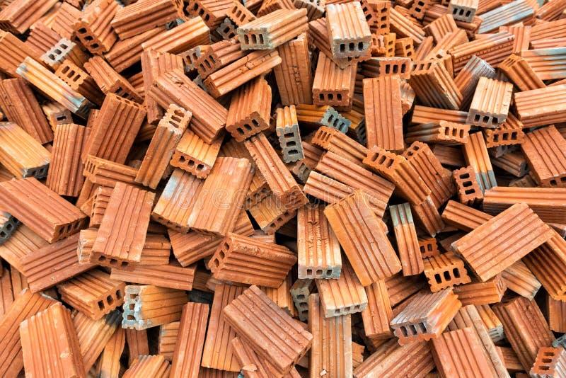 Veel van de bakstenen voor de bouw stock fotografie