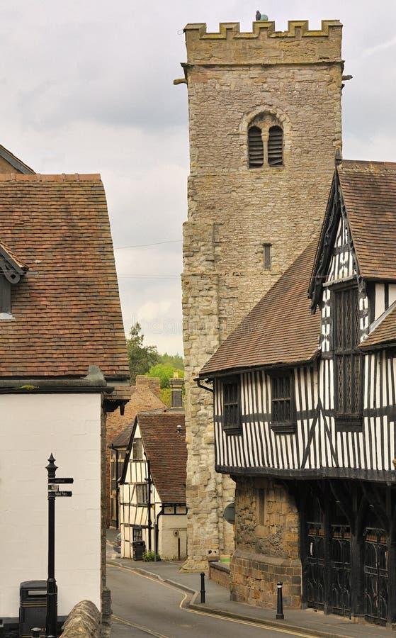 Veel Wenlock, Shropshire, Engeland stock afbeeldingen