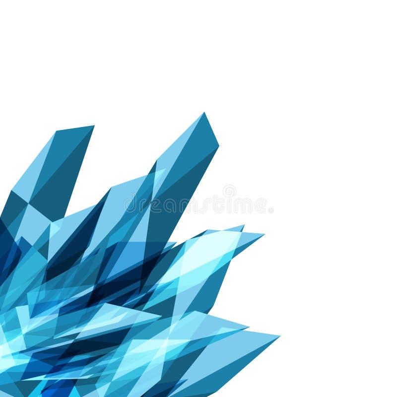 Veelhoek, kristal van de minerale samenvatting van het driehoeken creatieve concept royalty-vrije illustratie