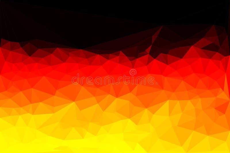 Veelhoek vectorvlag van Duitsland stock illustratie