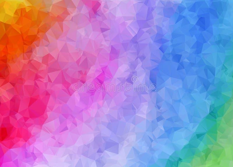Veelhoekig kleurrijk patroon van driehoeken Geometrische gradiëntachtergrond Driehoekig ontwerp voor Web, bedrijfsmalplaatje, bro stock illustratie