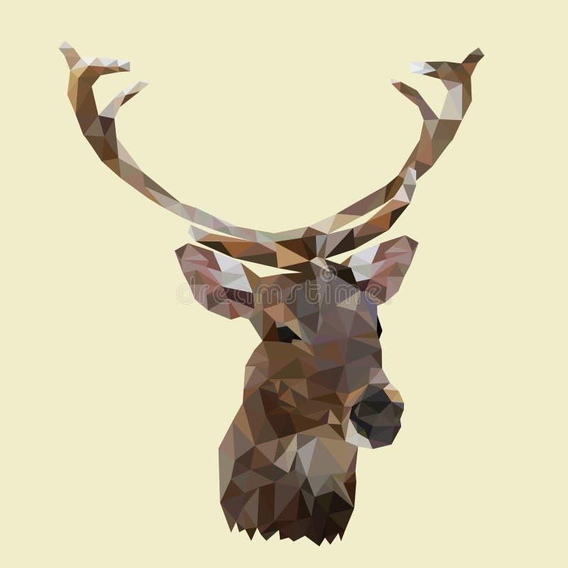 Veelhoekig mannetje, veelhoekherten, dierlijke vector stock illustratie