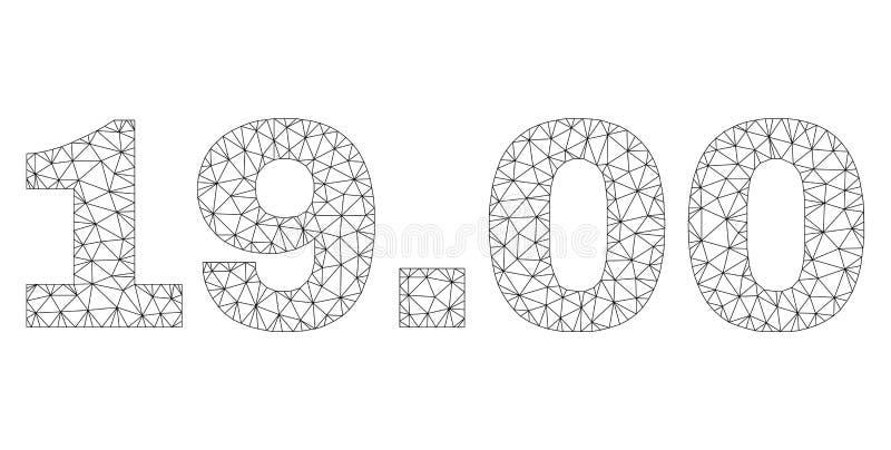 Veelhoekig Netwerk 19 00 Tekstmarkering royalty-vrije illustratie