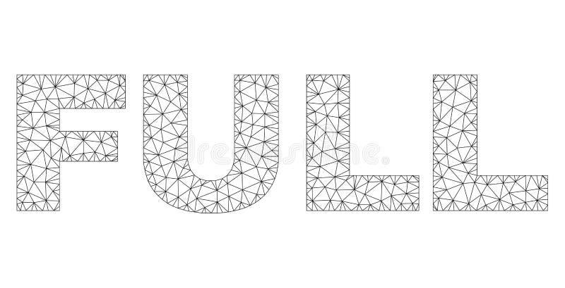 Veelhoekig Netwerkhoogtepunt - tekstlabel vector illustratie