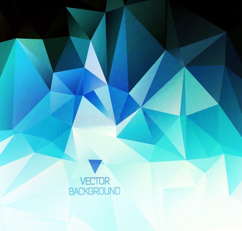 Veelhoekig ontwerp/Abstracte geometrische achtergrond stock illustratie