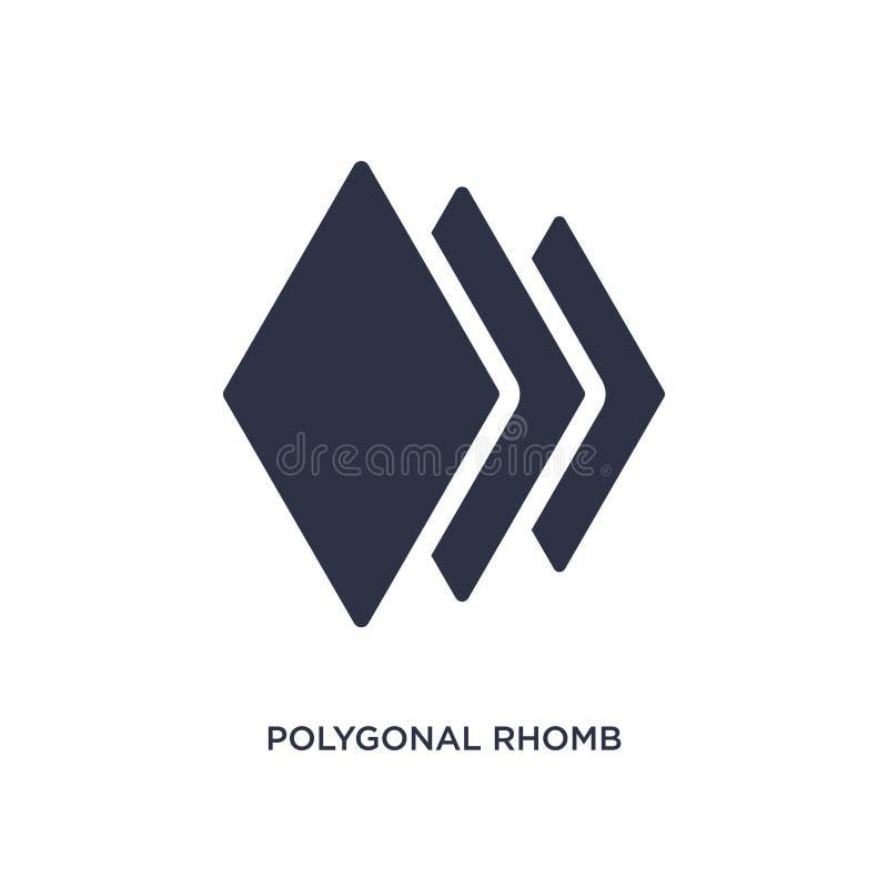 veelhoekig ruitpictogram op witte achtergrond Eenvoudige elementenillustratie van meetkundeconcept vector illustratie