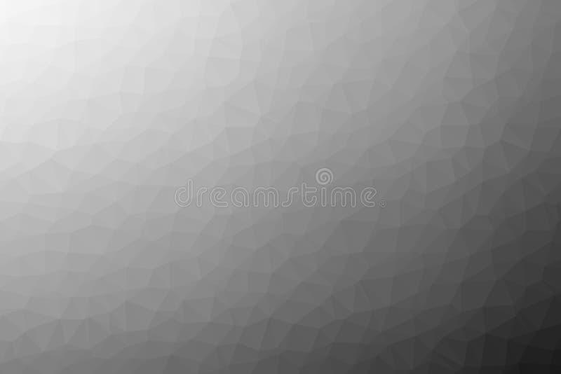 Veelhoekige abstracte geometrische schaduwen van grijze driehoekige lage polygradiëntillustratie als achtergrond stock illustratie