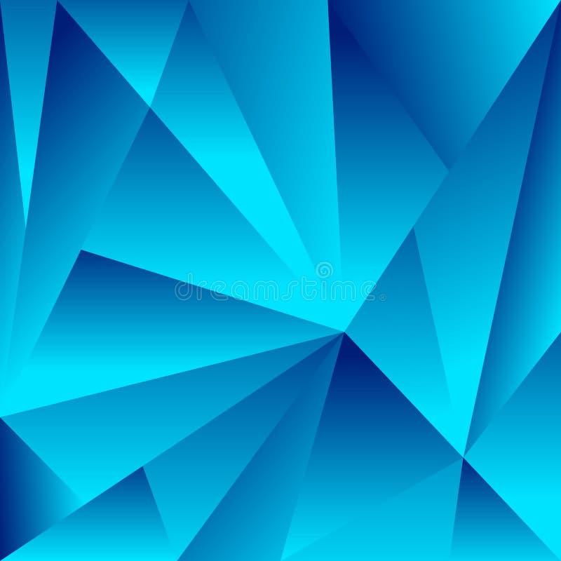 Veelhoekige achtergrond met driehoeksvormen Gekristalliseerd effect vector illustratie