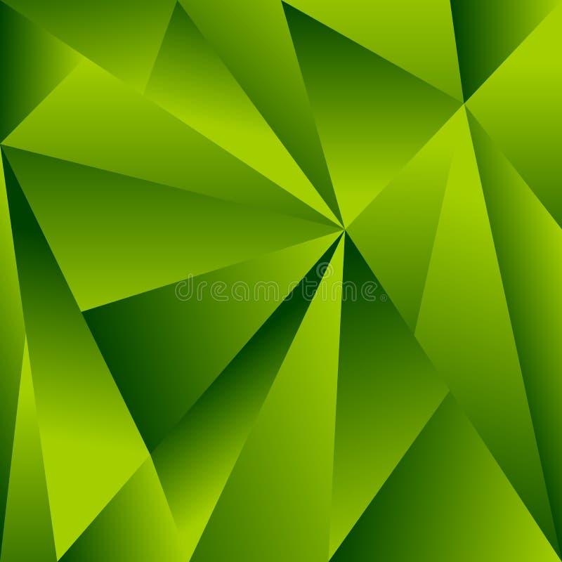 Veelhoekige achtergrond met driehoeksvormen Gekristalliseerd effect stock illustratie