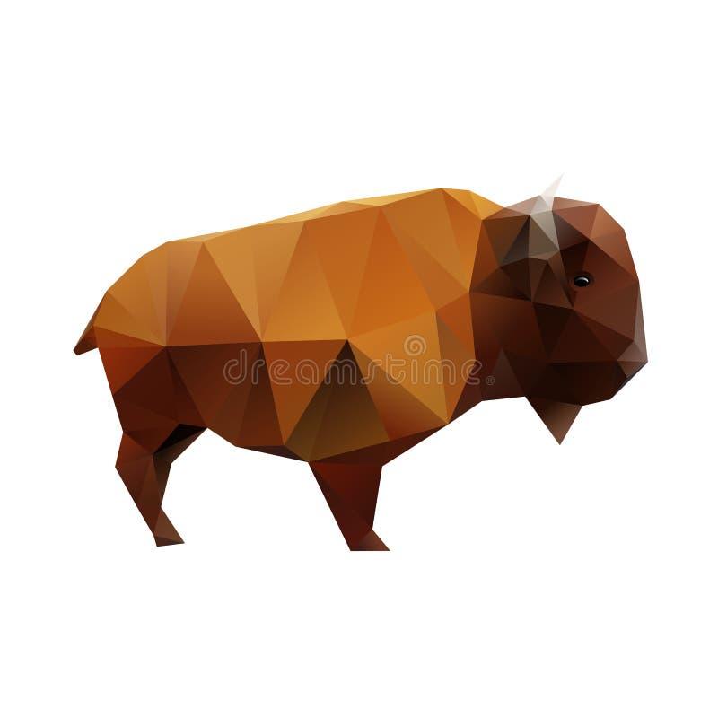 Veelhoekige Buffels vector illustratie