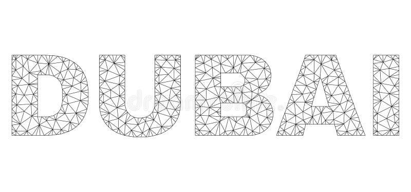 Veelhoekige 2D de Teksttitel van DOUBAI vector illustratie