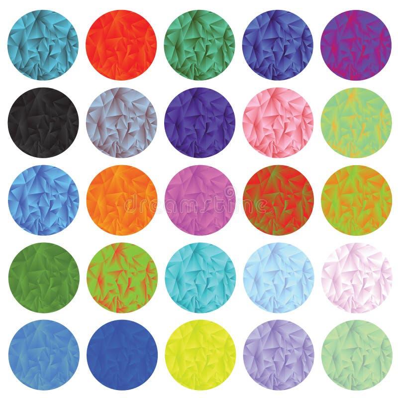 Veelhoekige geplaatste cirkels stock illustratie