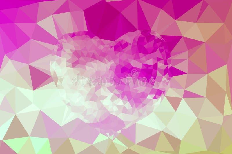 Veelhoekige mozaïekachtergrond vector illustratie