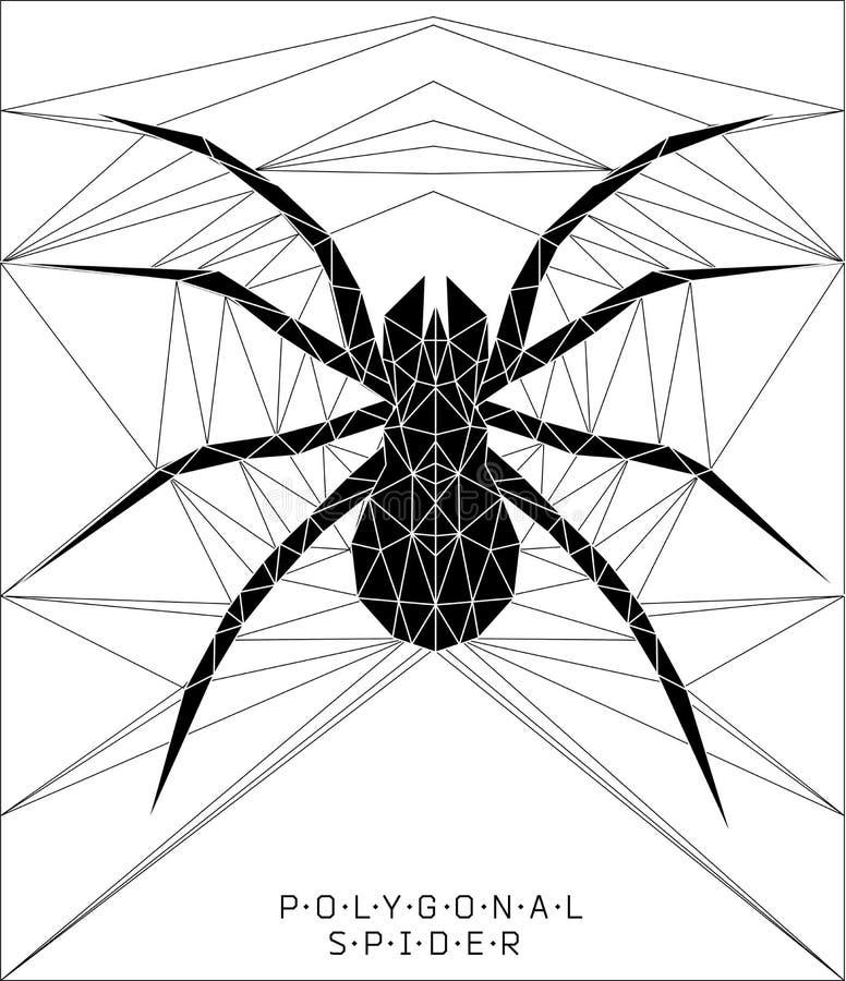 Veelhoekige spin Geometrische illustratie royalty-vrije illustratie